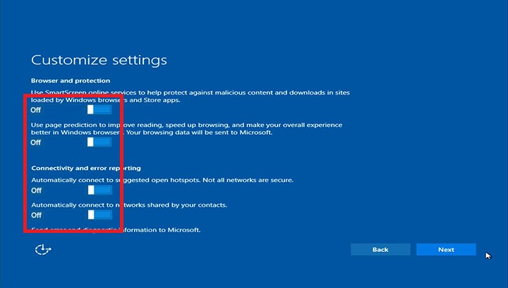 customize settings windows 10