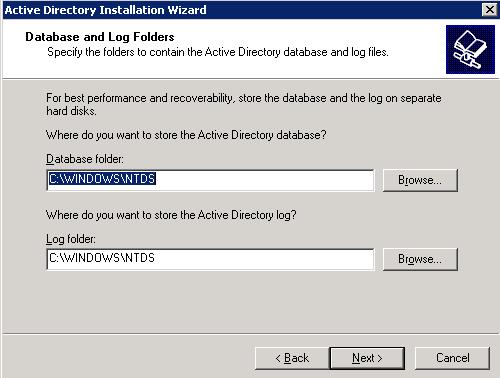 База данных Active Directory