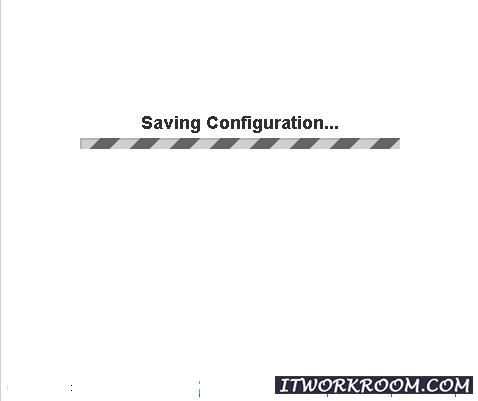 сохранения конфигурации.