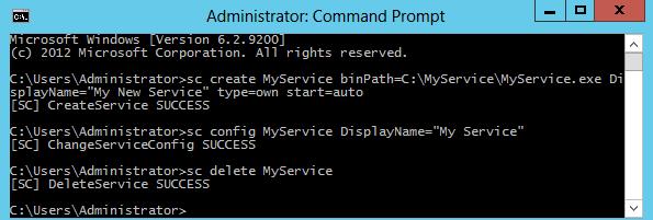 Sc delete MyService