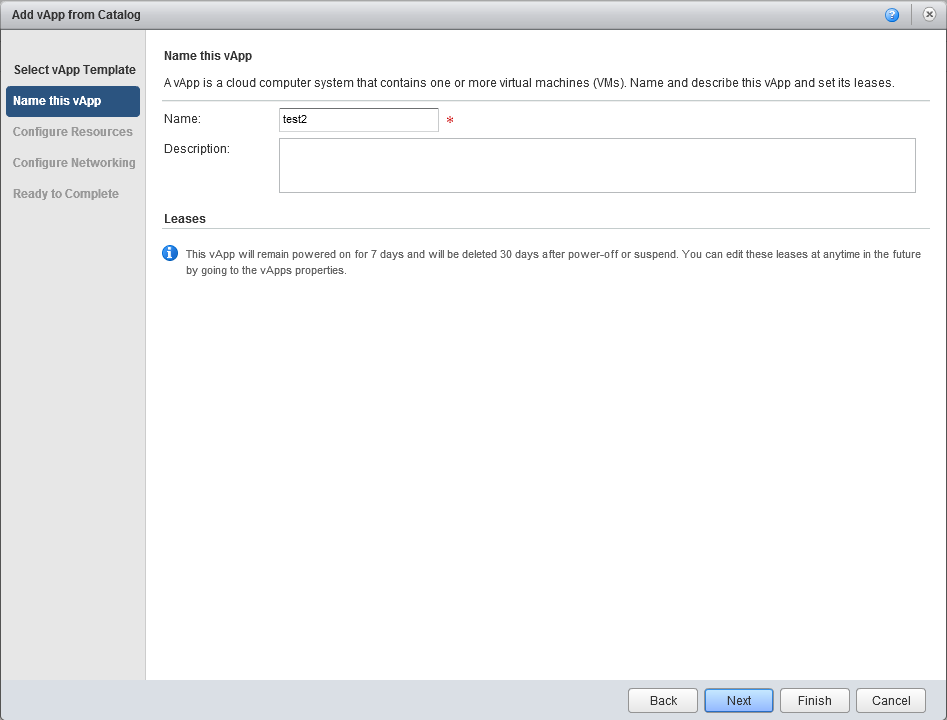vCloud Director application