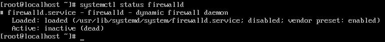 Результат выполнения команды systemctl status firewalld