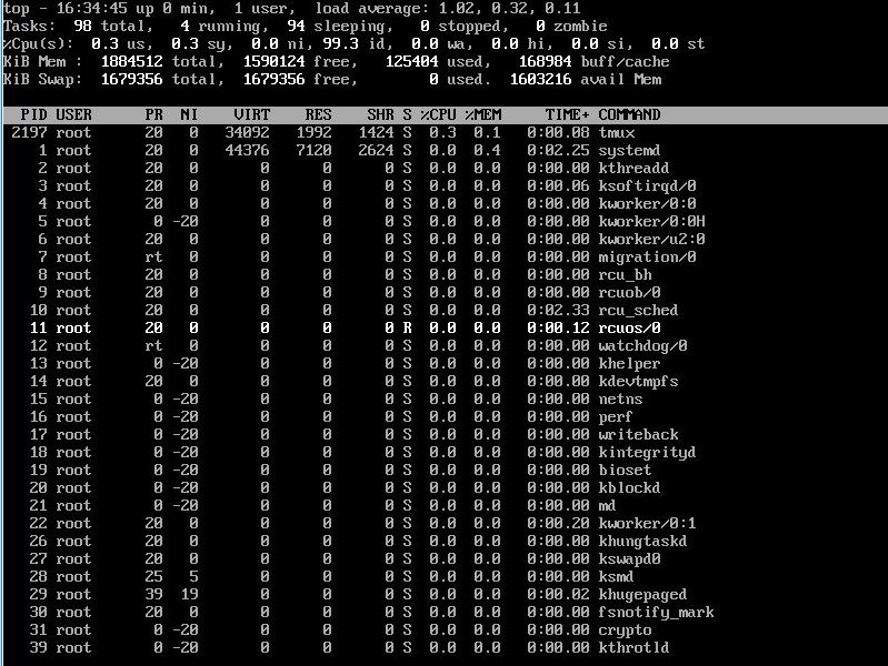 top – команда выдачи данных об активности процессов