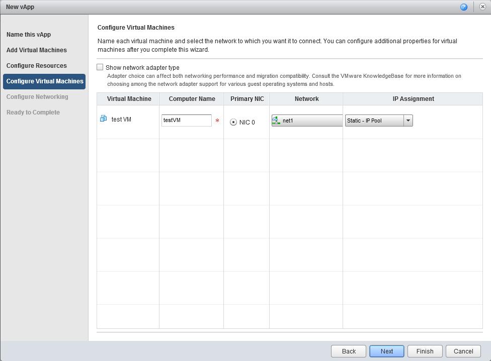 Создание виртуальной машины в vCloud Director
